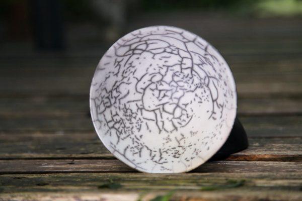 Coupelles demi-sphere en raku nu
