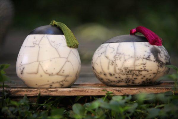 Boites en raku nu